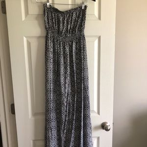 O'neill Black/White Maxi Dress